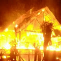 Sebuah Rumah Hangus Terbakar Di Desa Patikarya