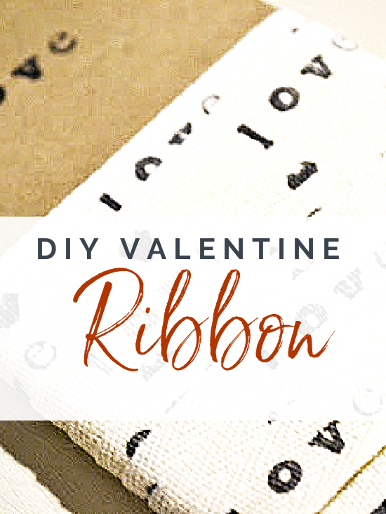 LOVE ribbon with overlay