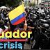 """Crisis en Ecuador el pueblo se revela contra el presidente al declarar un """"paquetazo"""" y el alza de los combustibles el presidente Lenín Moreno traslada la sede del Gobierno por el avance del golpe de estado"""