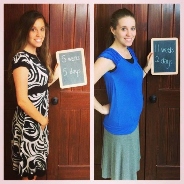 Derick and Jill are 11 weeks and 2 days pregnant!
