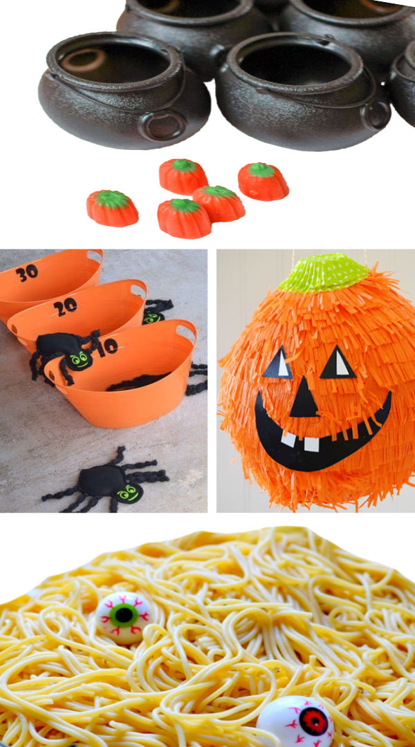 TONS of Halloween party games for kids!  #halloweenpartyideas #halloweenpartygames #halloweengamesforkids #growingajeweledrose #activitiesforkids