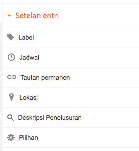mengaktifkan search description seo blogger