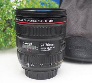 Lensa Canon 24-70mm F4L IS USM bekas