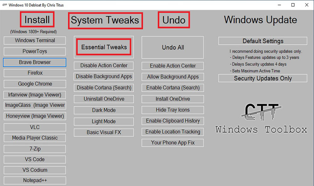 Script, para optimizar Windows