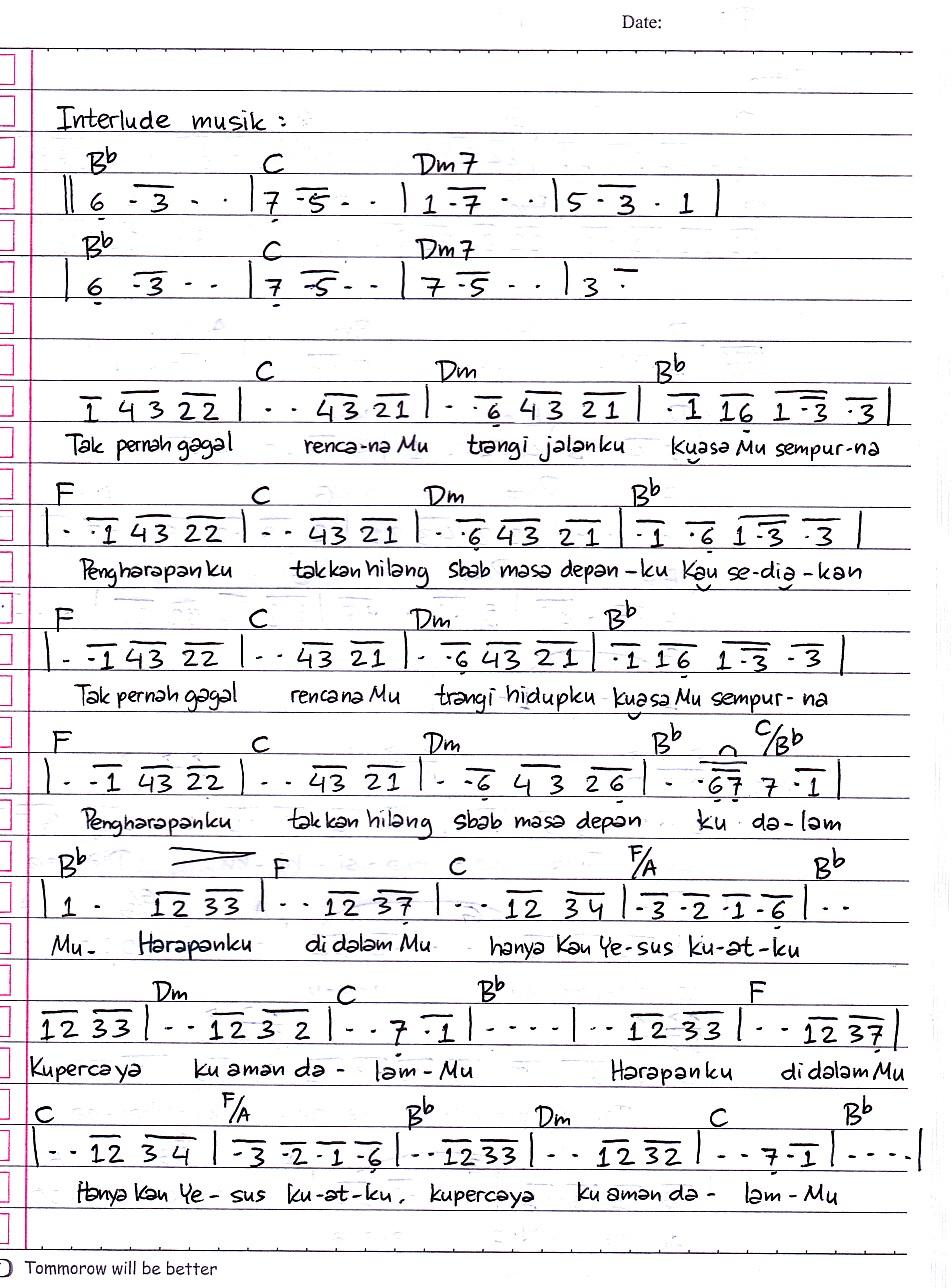 Kaulah Harapan Chord : kaulah, harapan, chord, Chord, Harapanku, Dengan