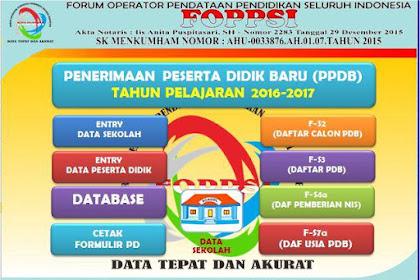 Aplikasi PPDB Format Excel FOPPSI Kabupaten Garut
