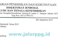 Surat Edaran Dinas Seleksi PPG 2019 [24 September 2019]