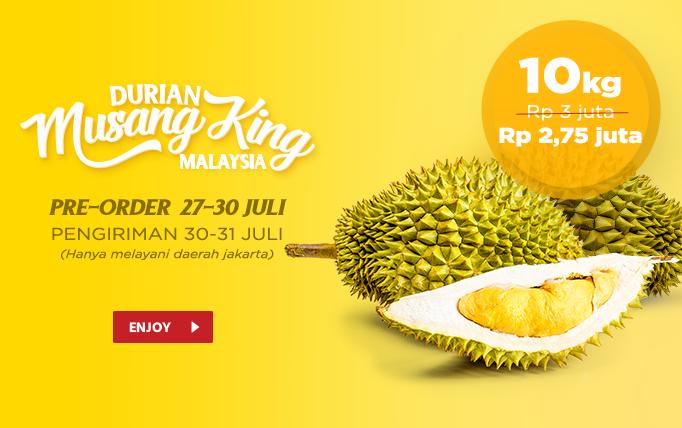 JdID - Promo Diskon Durian Musang King (27 - 30 Juli 2018)