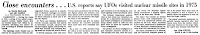 U.S. Reports say UFOs Visited Nuclear Missile Sites in 1975 - Courier-Journal (Louisville, Kentucky) 1-19-1979