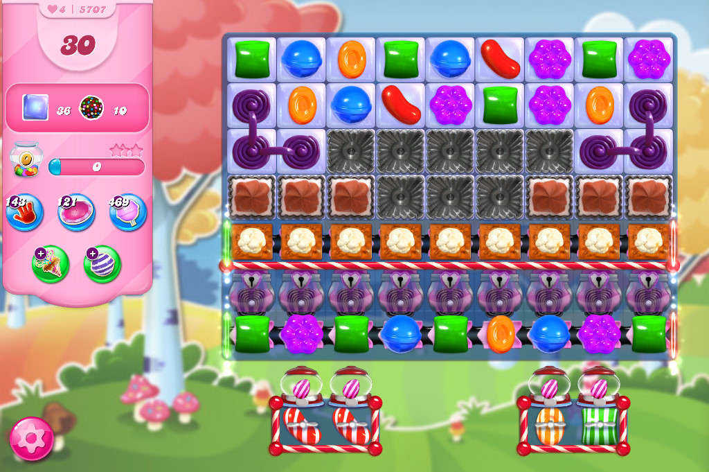 Candy Crush Saga level 5707