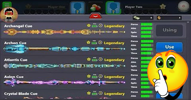 Get all the 8ball pool sticks and enjoy the Offline
