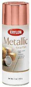 Krylon rose gold metallic paint stock photo