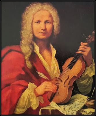 Πίνακας με πορτρέτο του Βιβάλντι, ο οποίος κρατάει ένα βιολί