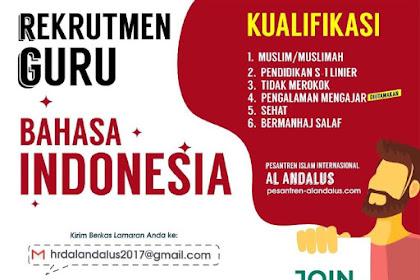 Lowongan Pekerjaan Guru Bahasa Indonesia Bogor