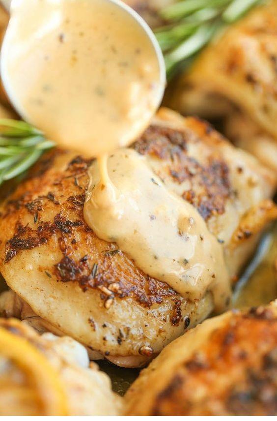 Herb Chicken With Lemon Cream Sauce