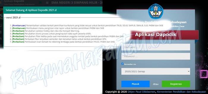 Aplikasi Dapodik Versi 2021.d, Apa Saja Pembaruan dan Perbaikannya?