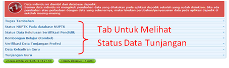 Cek Pembayaran Tunjangan Profesi Guru (TPG)/ Sertifikasi melalui Info GTK