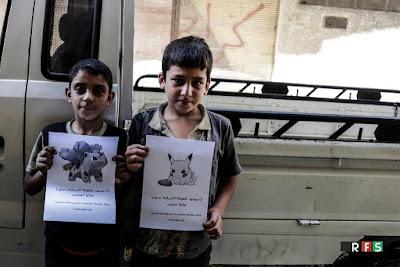 #PokemonInSyria mensajes de niños sirios para que acabe la guerra