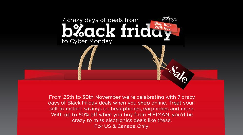 Hifi Man Black Friday Cyber Monday Headphone Specials Poor Audiophile