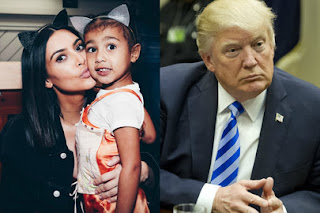 Kim Kardashian says her daughter would be better than Trump