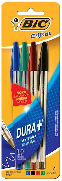 Kit com 4 canetas