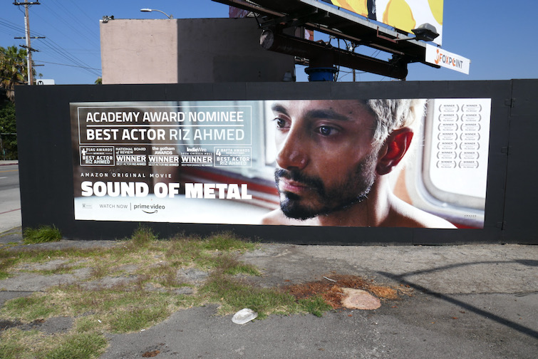 Riz Ahmed Sound of Metal Oscar nominee billboard