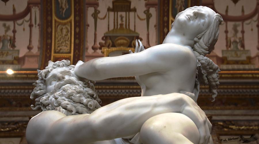 O Rapto de Proserpina, exposta na Galleria Borghese.