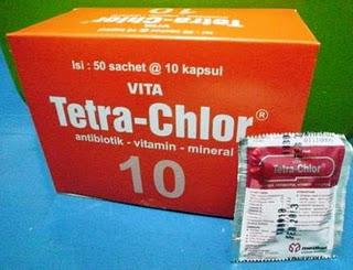 Tertra-Chlor - Obat Yang Digunakan Untuk Mengobati Burung Kenari Yang Sakit Voryza (Snot, Pilek, Muka Bengkan) dll