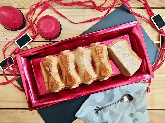 Receta de flan de turrón de yema tostada sin horno en Monsieur Cuisine. Postre de aprovechamiento. Lidl. Tarta fácil, rápida, fresquita, ideal para el verano. Cuca