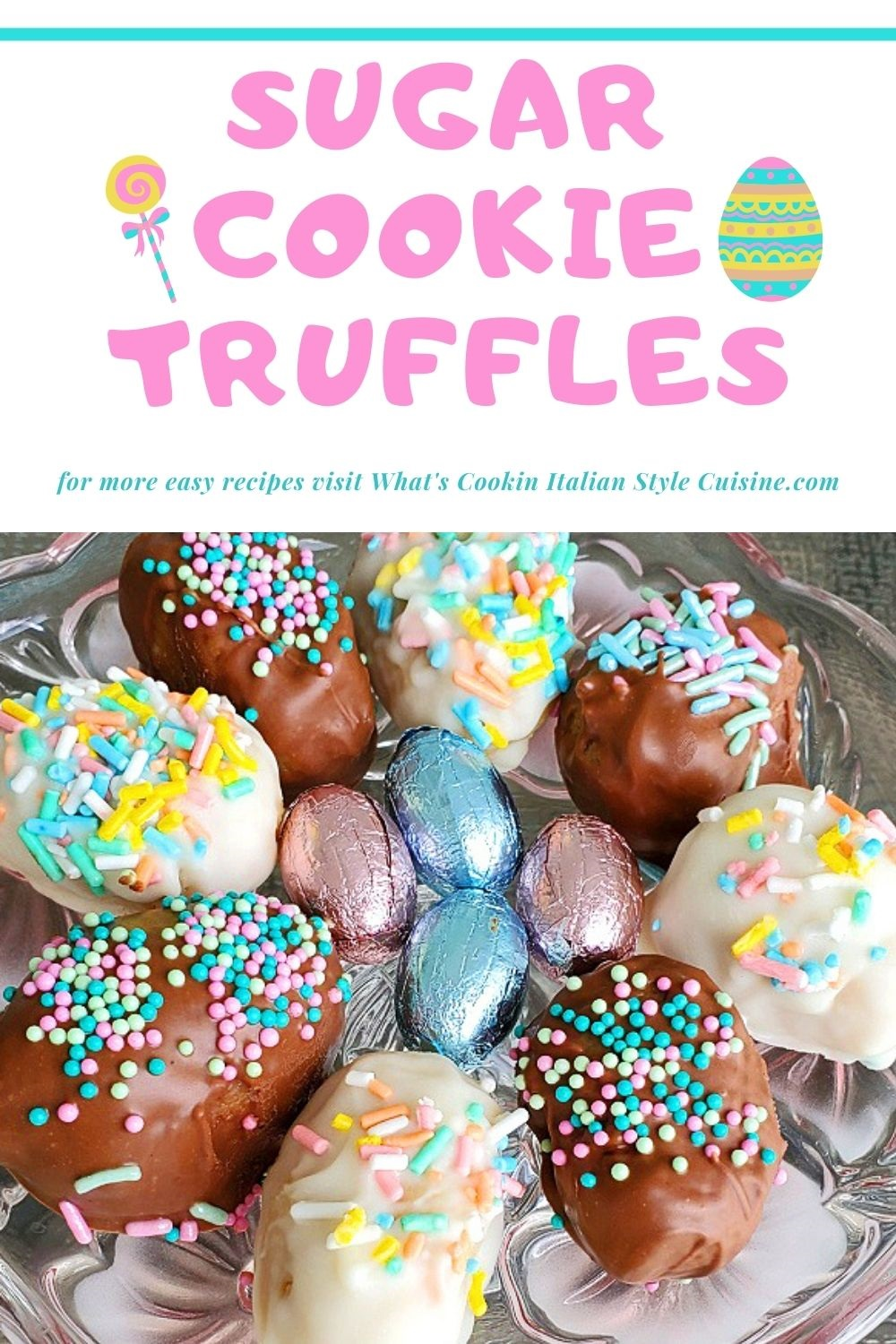 this is how to make sugar cookie truffles using a cookie mix