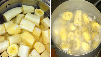 غلى الموز