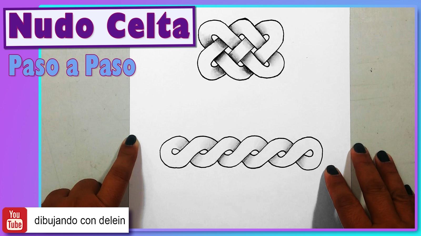 Dibujando Con Delein Como Hacer Una Libreta De Dibujo: Dibujando Con Delein: Como Dibujar Un Nudo Celta, (Celtic