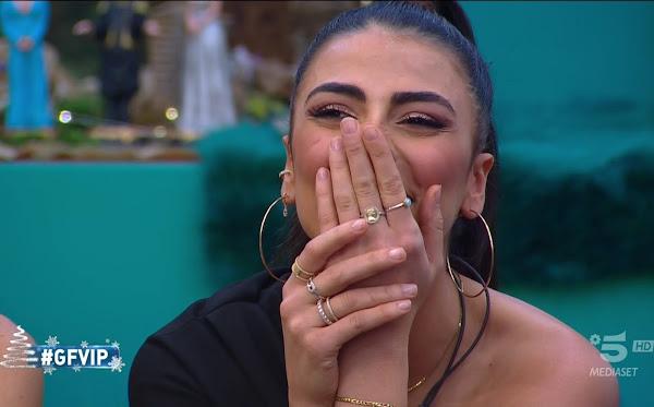 Giulia Salemi emozionata gfvip foto 28 dicembre