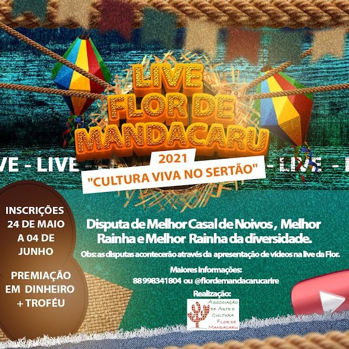 """Dia 24 de maio estarão abertas as inscrições do """"Melhor Casal de Noivos"""", da """"Melhor Rainha"""" e da """"Melhor Rainha da Diversidade"""" do Cultura Viva no Sertão 2021"""