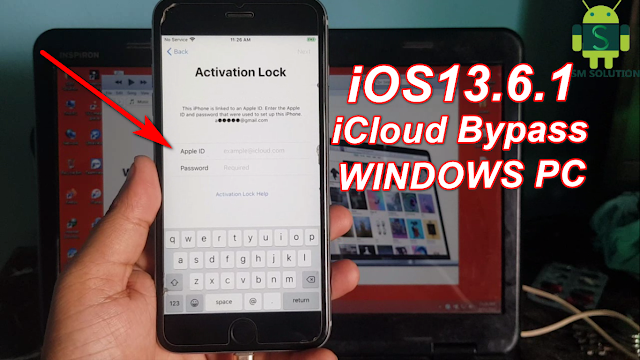 iOS13.6.1 iCloud Activation lock Bypass On Windows.