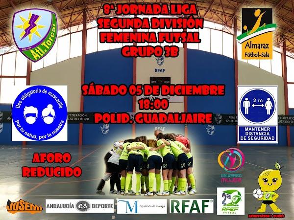 El Atlético Torcal - Almaraz FS, este sábado a las 18:00 horas