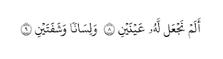 Al-Balad Ayat 8-9