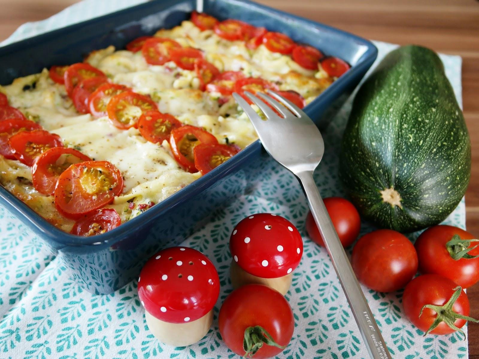 Auflauf mit Spätzle und Zucchini