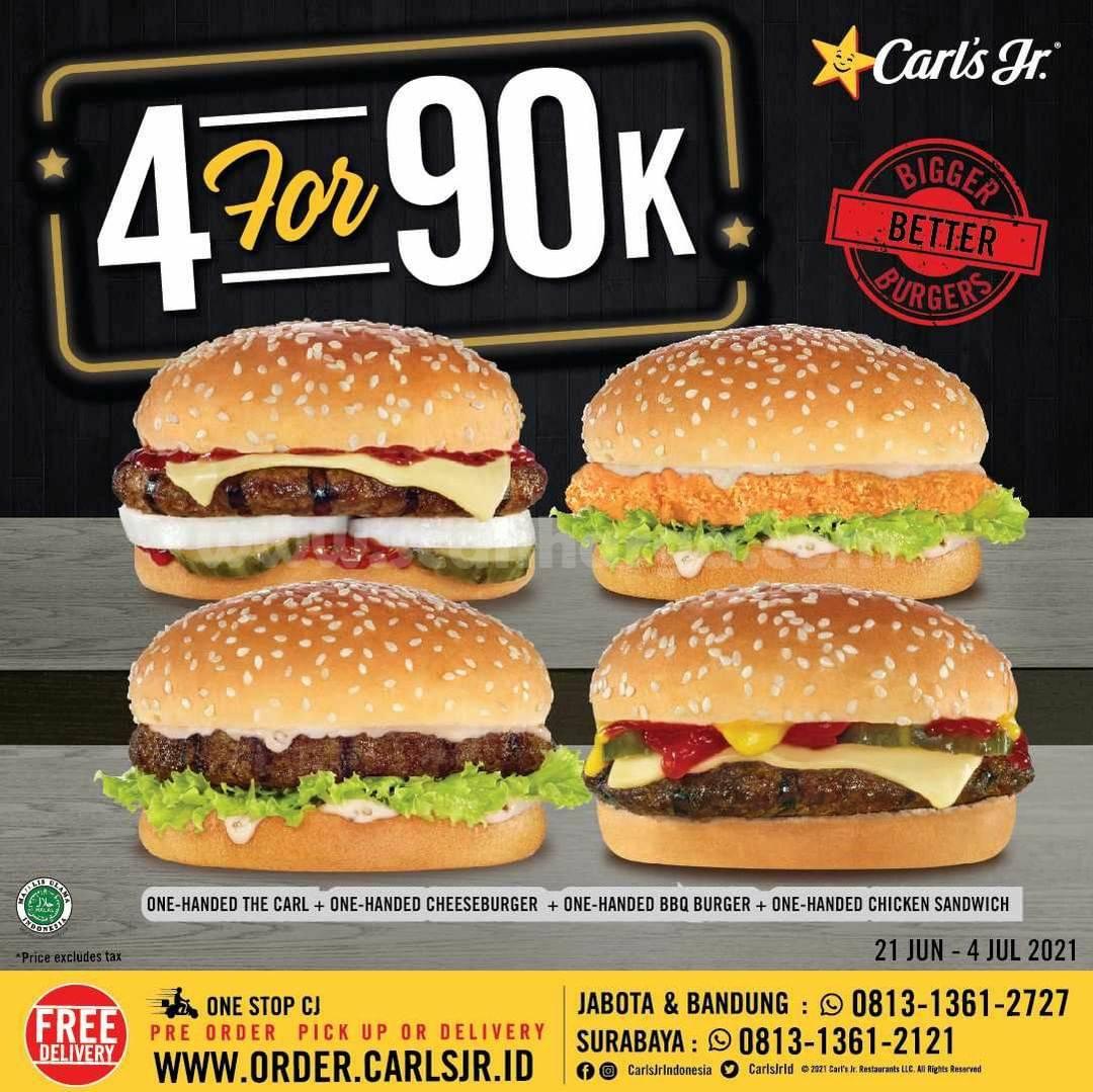 Promo CARLS JR Makan Ber4 hanya Rp. 90.000