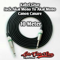 Kabel Gitar Jack Akai Mono To Akai Mono Canon Canare 10 Meter