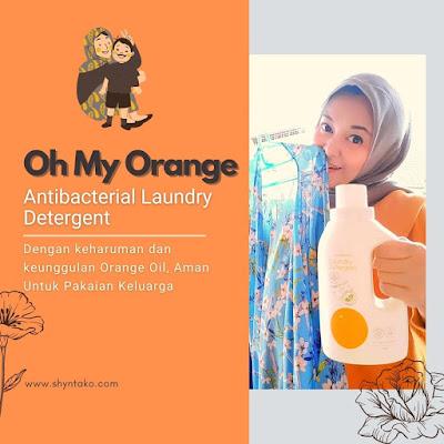 oh my orange antibacterial laundry detergent pewangi pakaian bayi