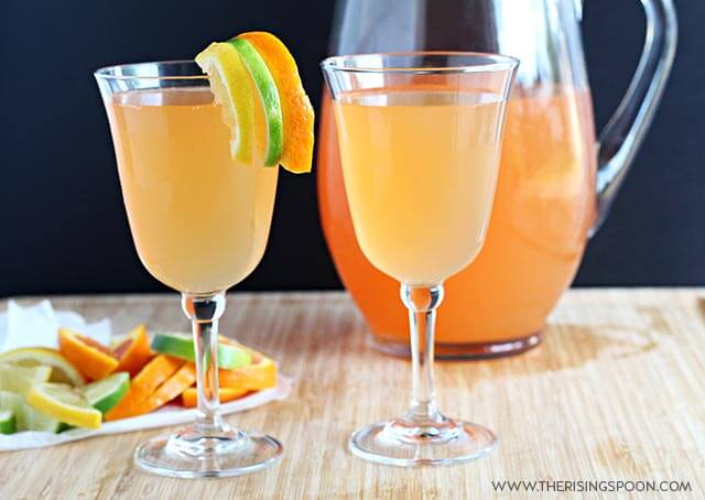 Easy Citrus White Wine Spritzers Recipe
