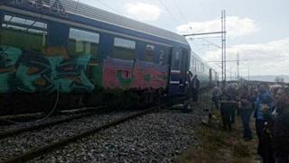 Εκτροχιασμός τρένου Intercity μετά τον σταθμό Παλαιοφαρσάλου