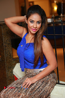 Telugu Actress Srilekha Reddy Latest HD Pos in Sleeveless Blue Top at Muse Art Gallery  0080.JPG