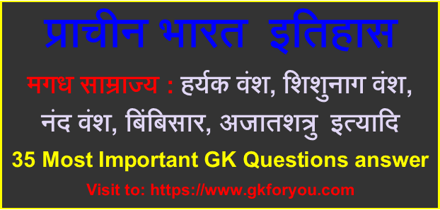 मगध साम्राज्य: हर्यक वंश, शिशुनाग वंश, GK Questions