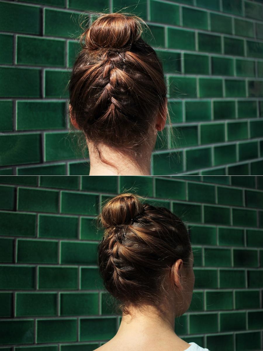 flechten frisur bun braidbun haare styling
