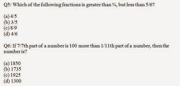 Quantitative Fractions Questions and Answers