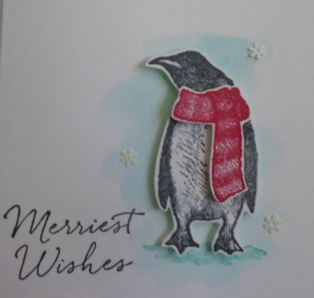 Craftyduckydoodah!, Stamp 'N Hop October 2019, Playful Penguins, Christmas 2019, Water colour background, Susan Simpson UK Independent Stampin' Up! Demonstrator, Supplies available 24/7 from my online store,