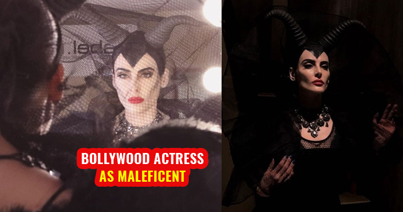 mandana karimi dress up as maleficent bollywood actress