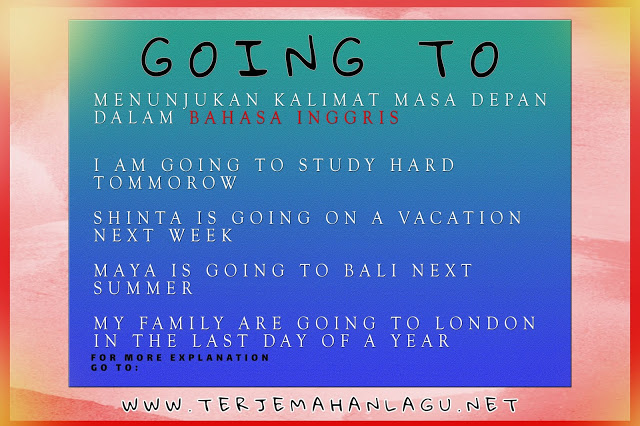 Be going to dalam bahasa inggris